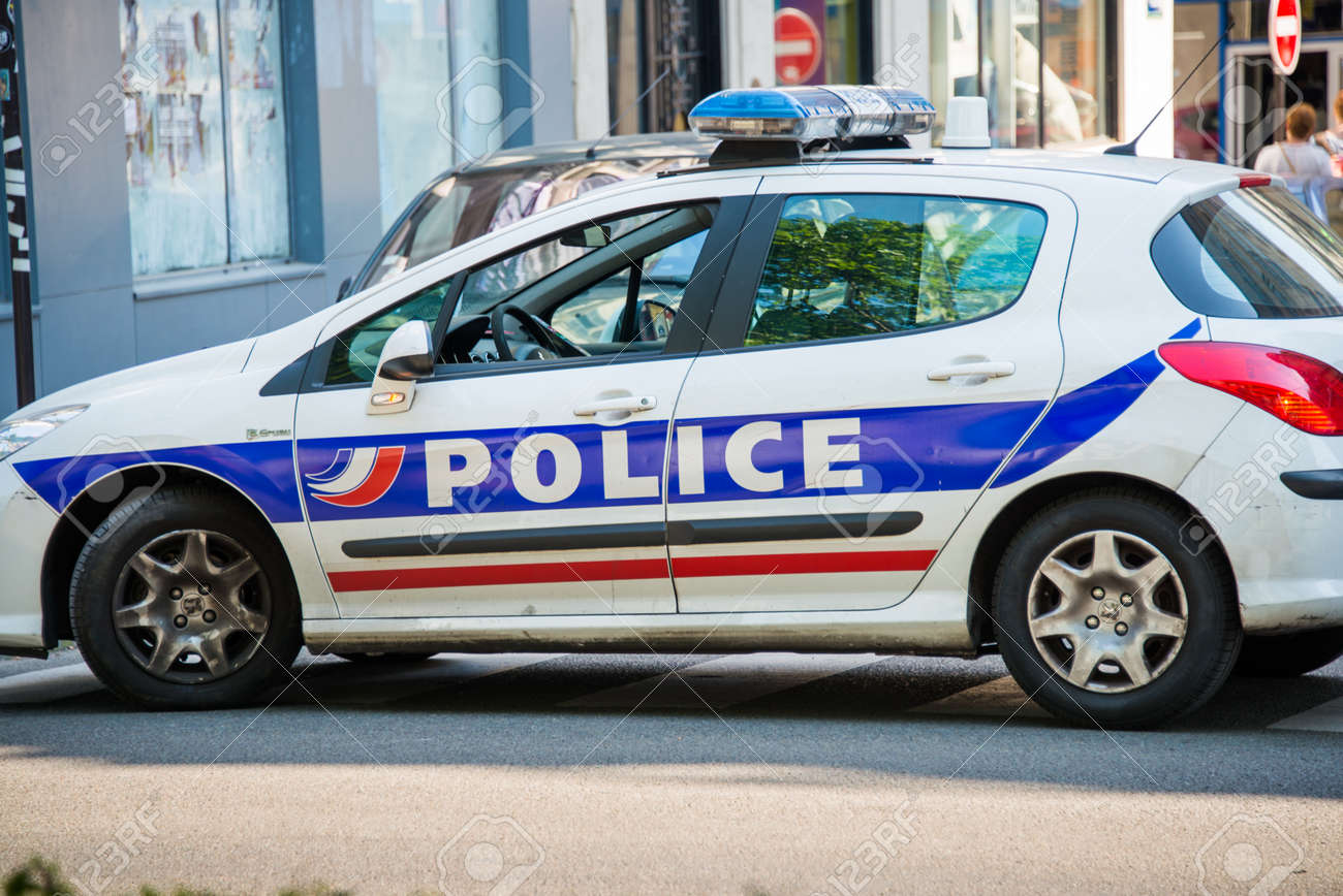 Paris July 8 2013 Police Car On July 8 In Paris France Stock
