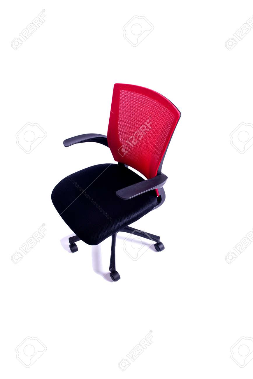 de Chaise bureau rouge isolé sur le fond blanc xBoedC