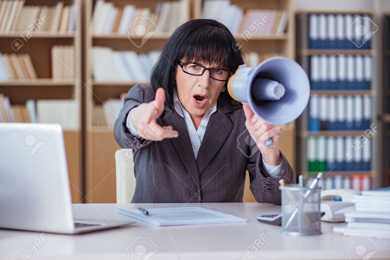 Mature businesswoman working in the office Stock Photo - 75148194