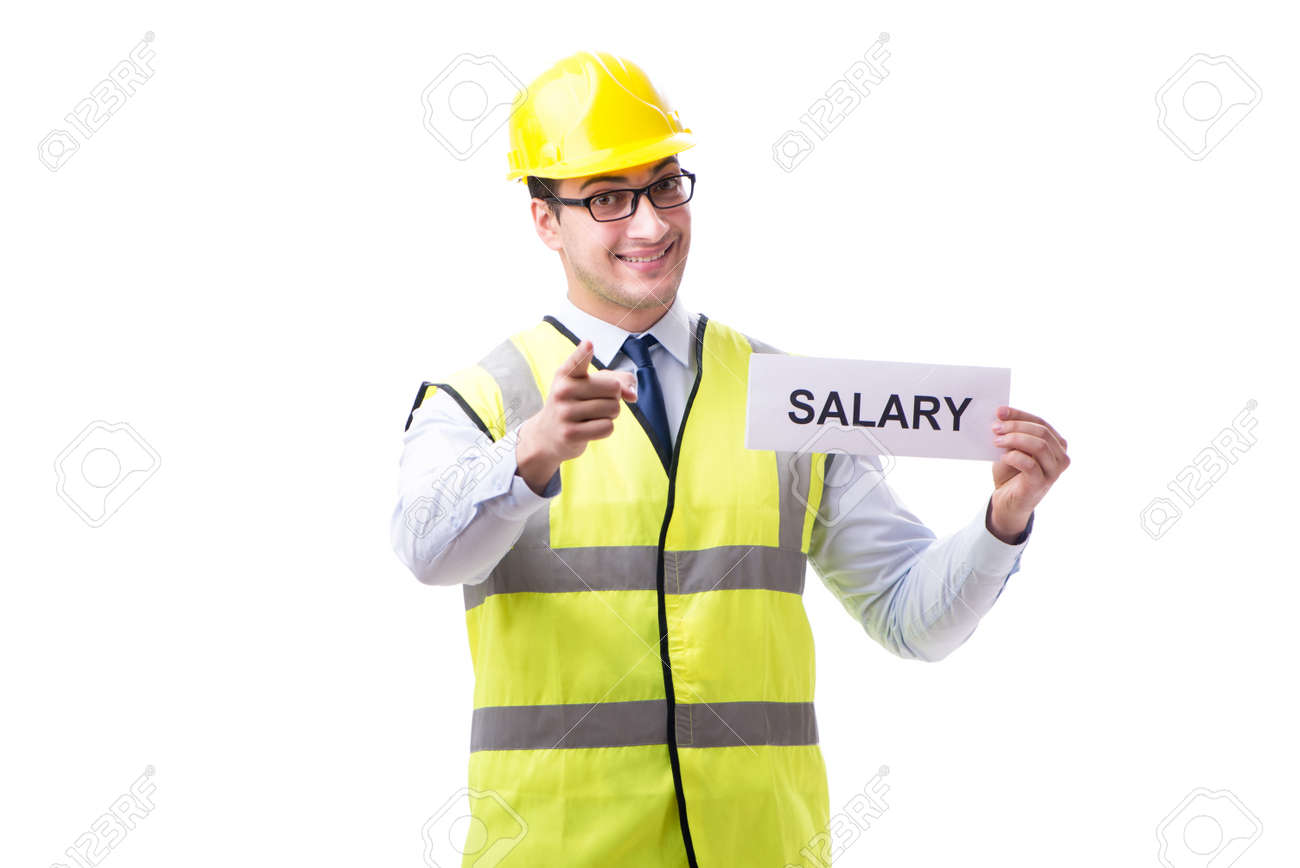 Construction supervisor asking for higher salary isolated on