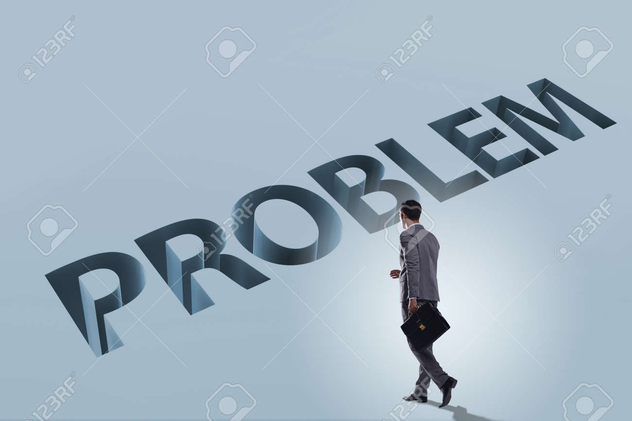 Businessman Overcoming Business Financial Problem Stock Photo
