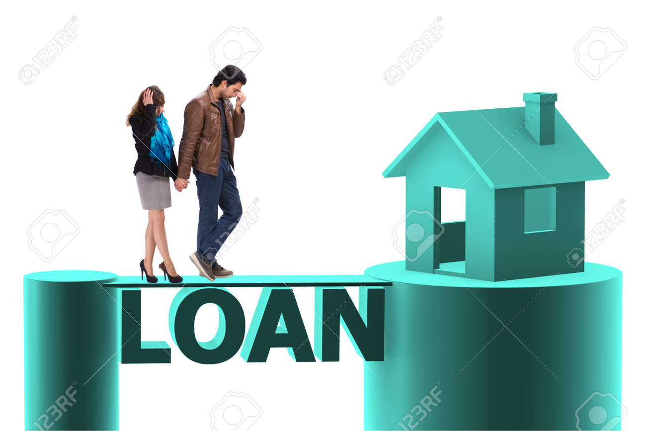 Concept Of Family Taking Mortgage Loan For House Stock Photo Picture And Royalty Free Image Image 113361944