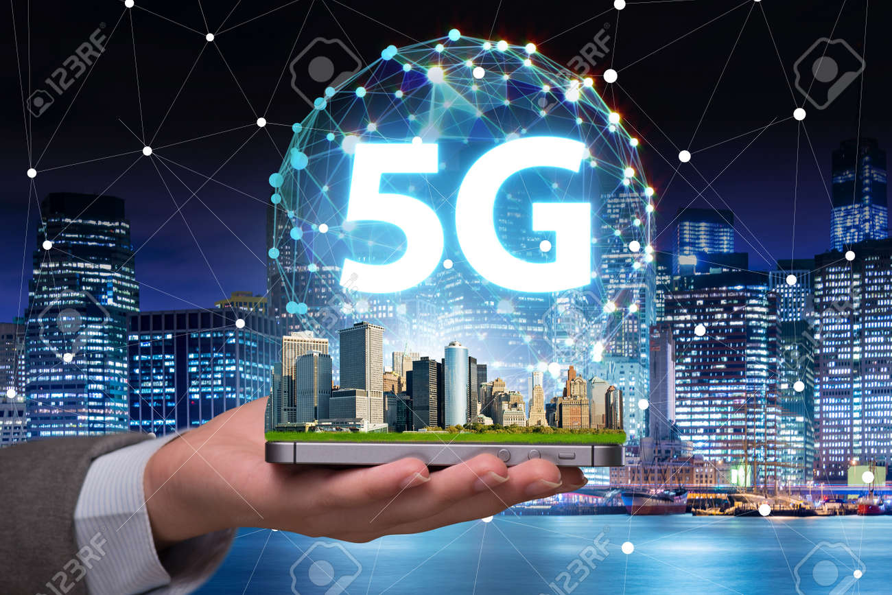 5g concept of internet connection technology - 122013532