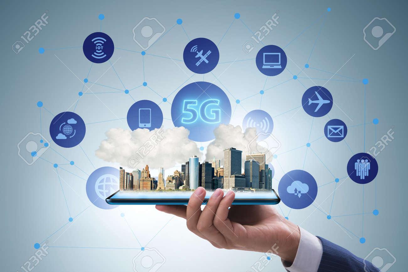 5G technology concept - high internet speed - 129023494