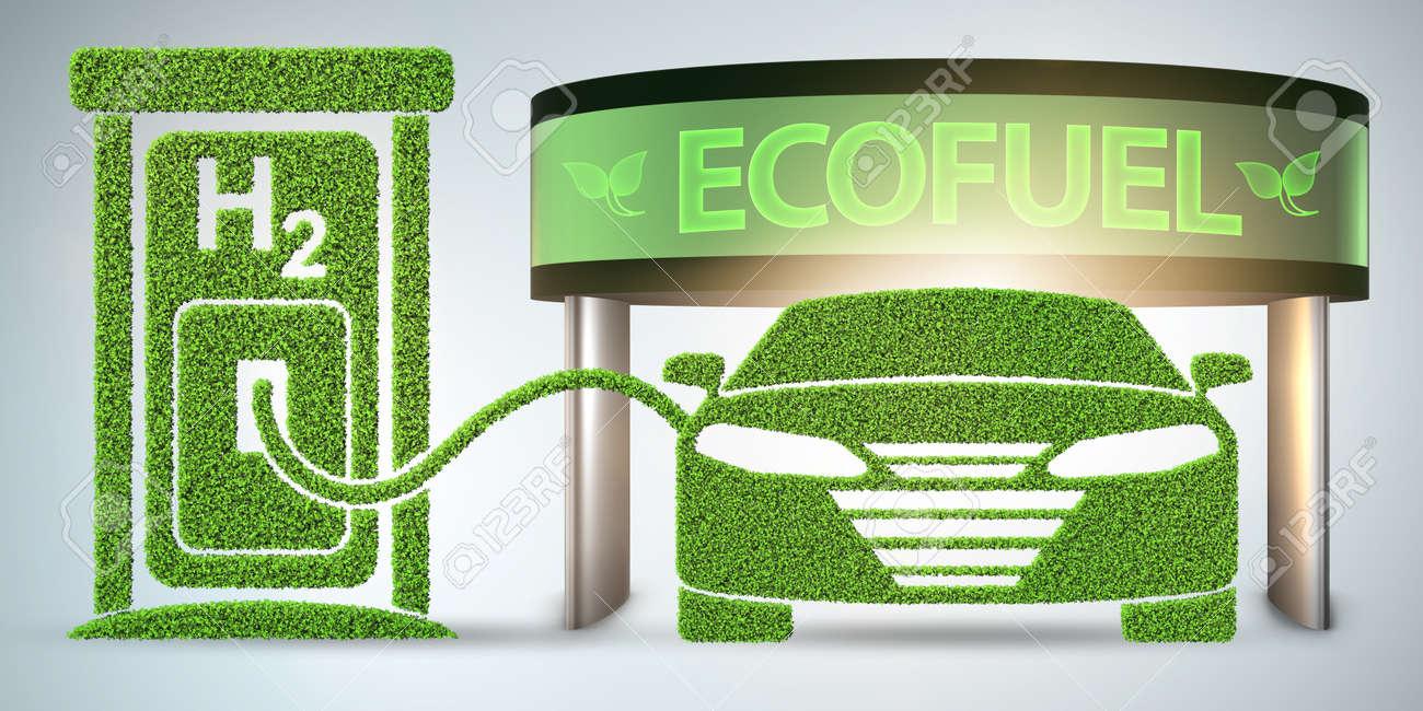 The hydrogen car concept - 3d rendering - 133126191