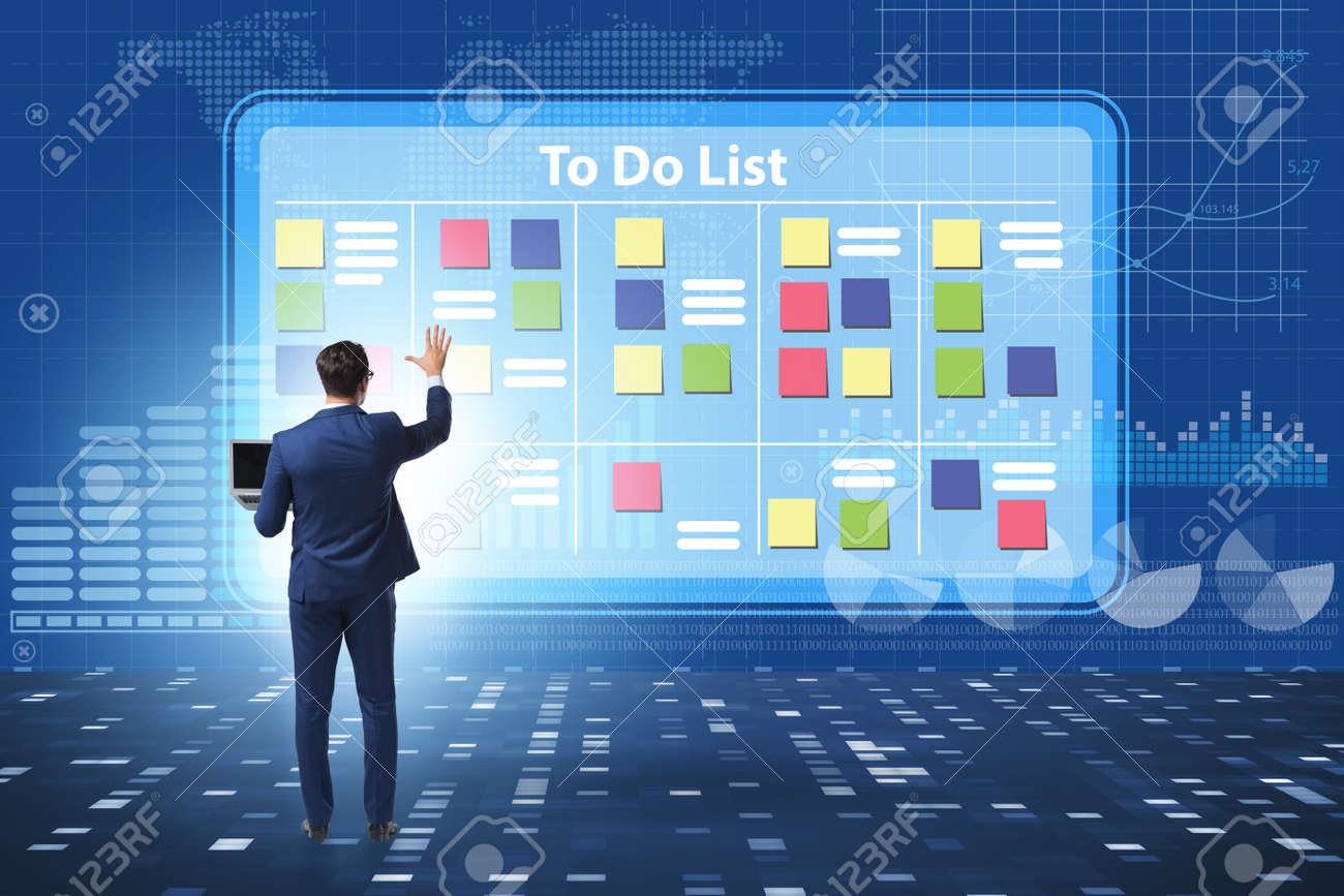 Concept of to do list with businessman - 133908320