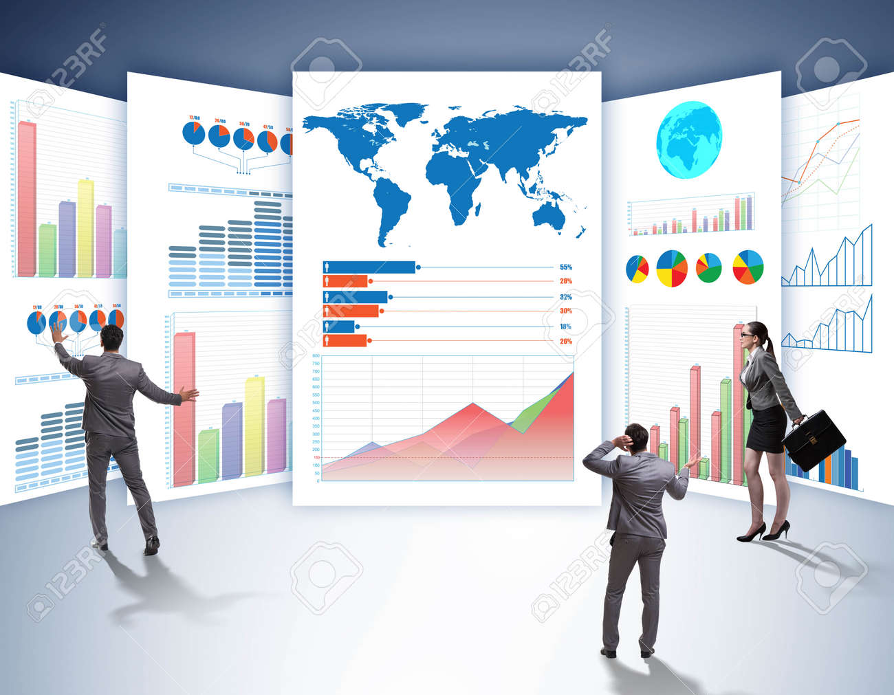 The concept of business charts and finance visualisation - 146865780