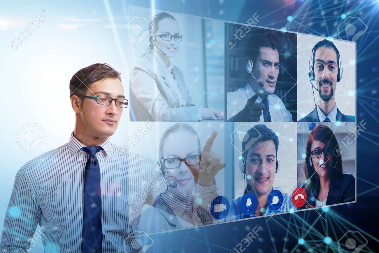 Concept of remote video conferencing during pandemic - 155186387