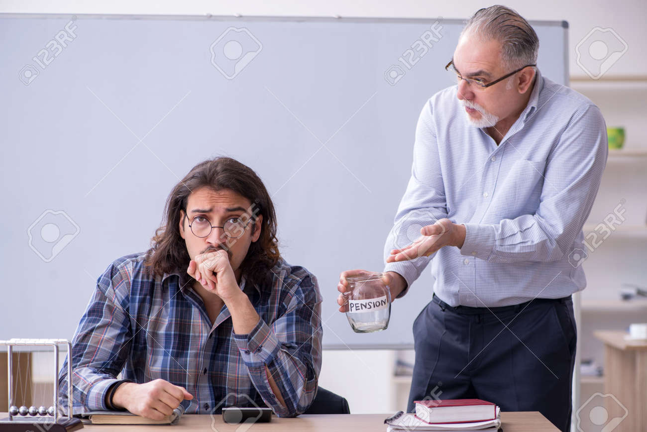 Two employees in retirement concept - 158164949