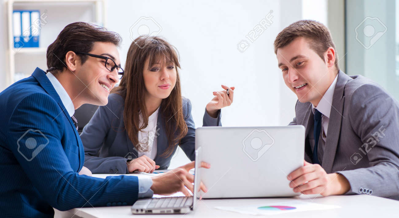 Business meeting with employees in the office - 168009380