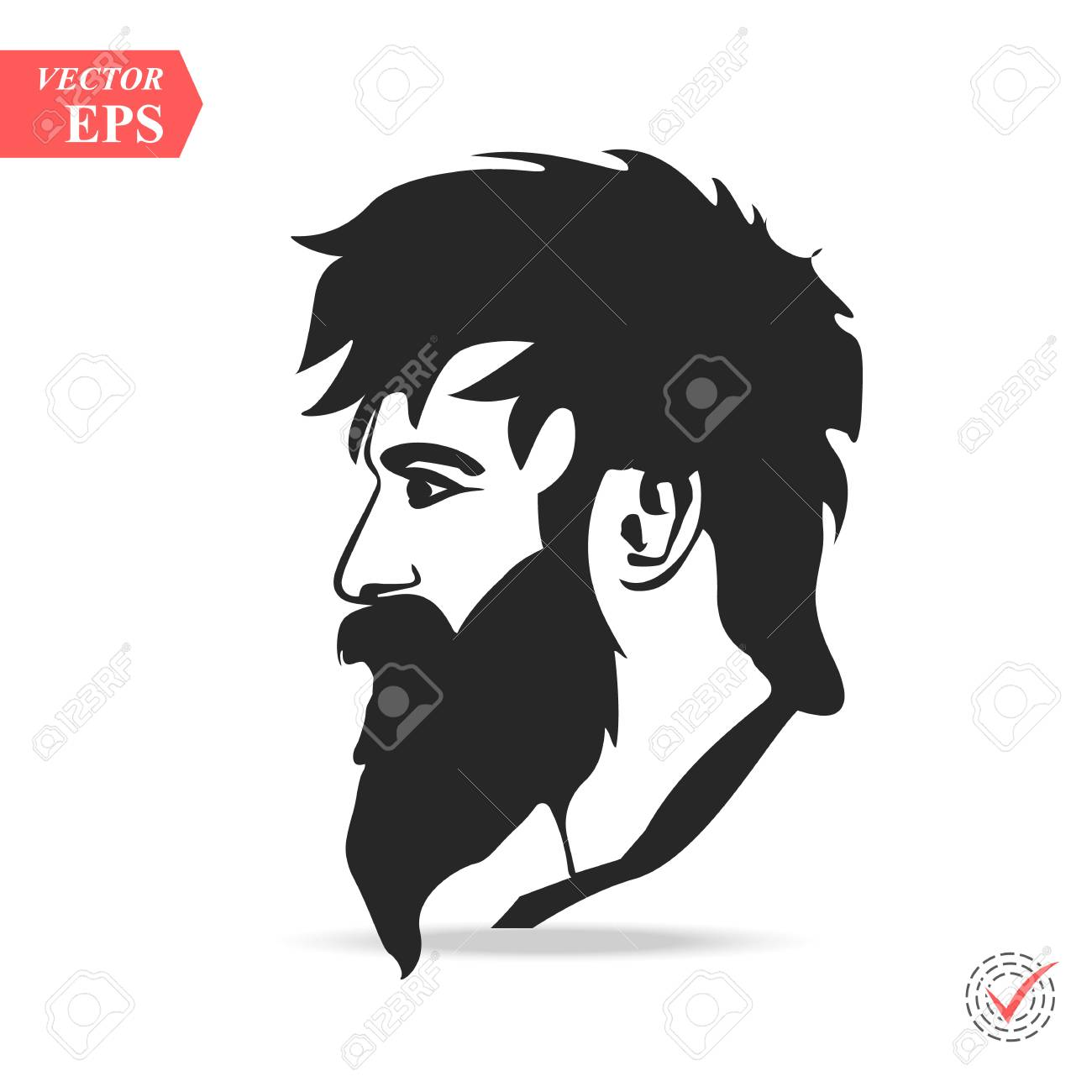 9e35e944462 Man with beard variations silhouette fashion silhouette hipster style eps stock  vector jpg 1300x1300 Man silhouette