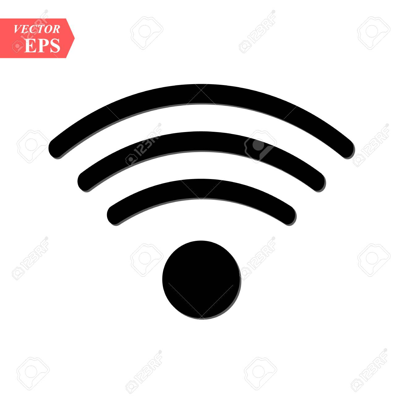 wireless and wifi icon or sign for remote internet access podcast