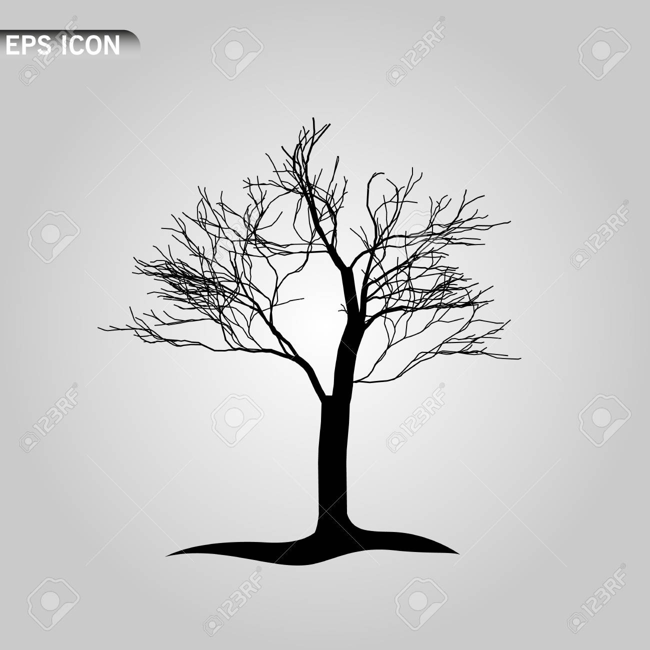 An Illustration Of A Scary Bare Black Tree Silhouette Eeps10 Royalty Free Cliparts Vectors And Stock Illustration Image 121859928