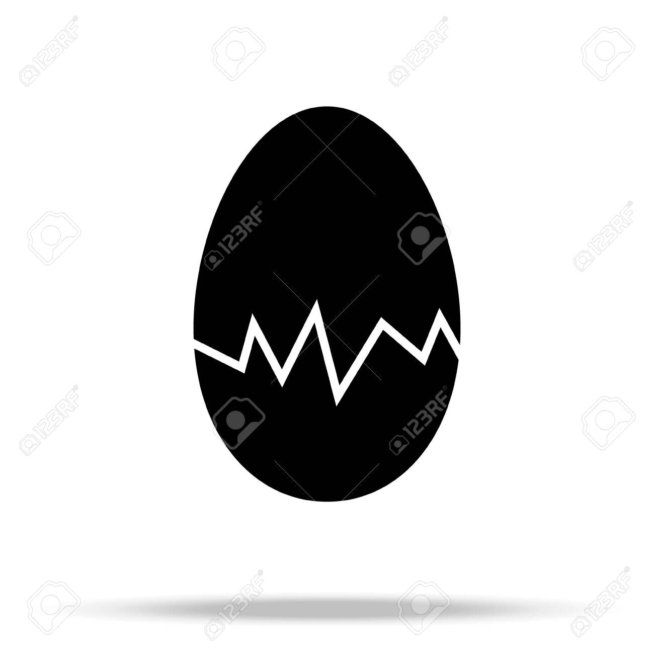 egg icon vector, solid illustration, pictogram isolated on white - 128952788