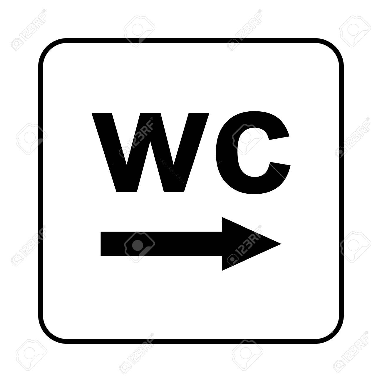 Toilet Sign Wc Royalty Free Cliparts Vectors And Stock