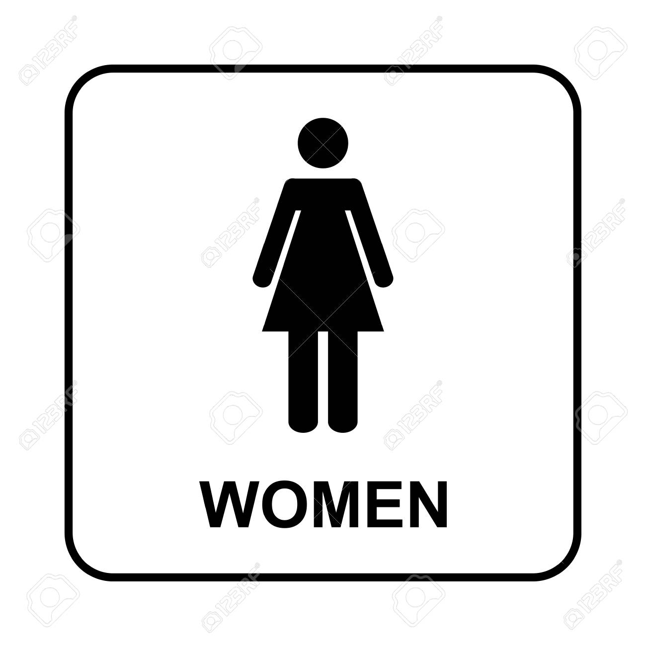 Toilet Sign Wc Women Royalty Free Cliparts Vectors And Stock