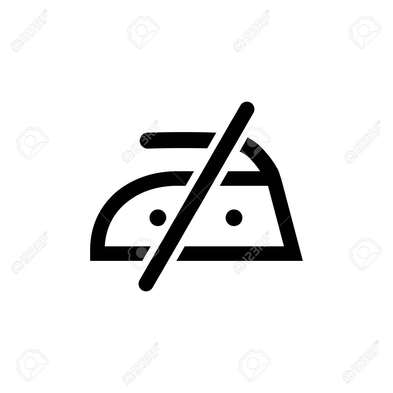 Do Not Iron Vector Icon Royalty Free Cliparts Vectors And Stock