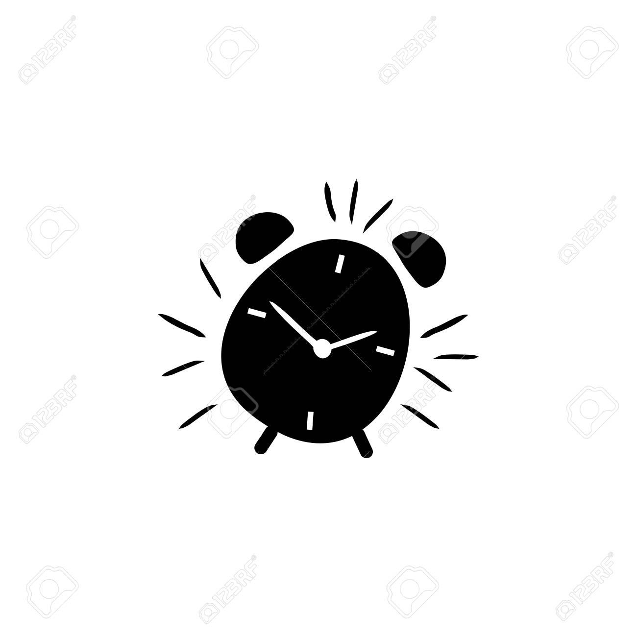 Alarm clock hand drawn outline vector icon - 110105561