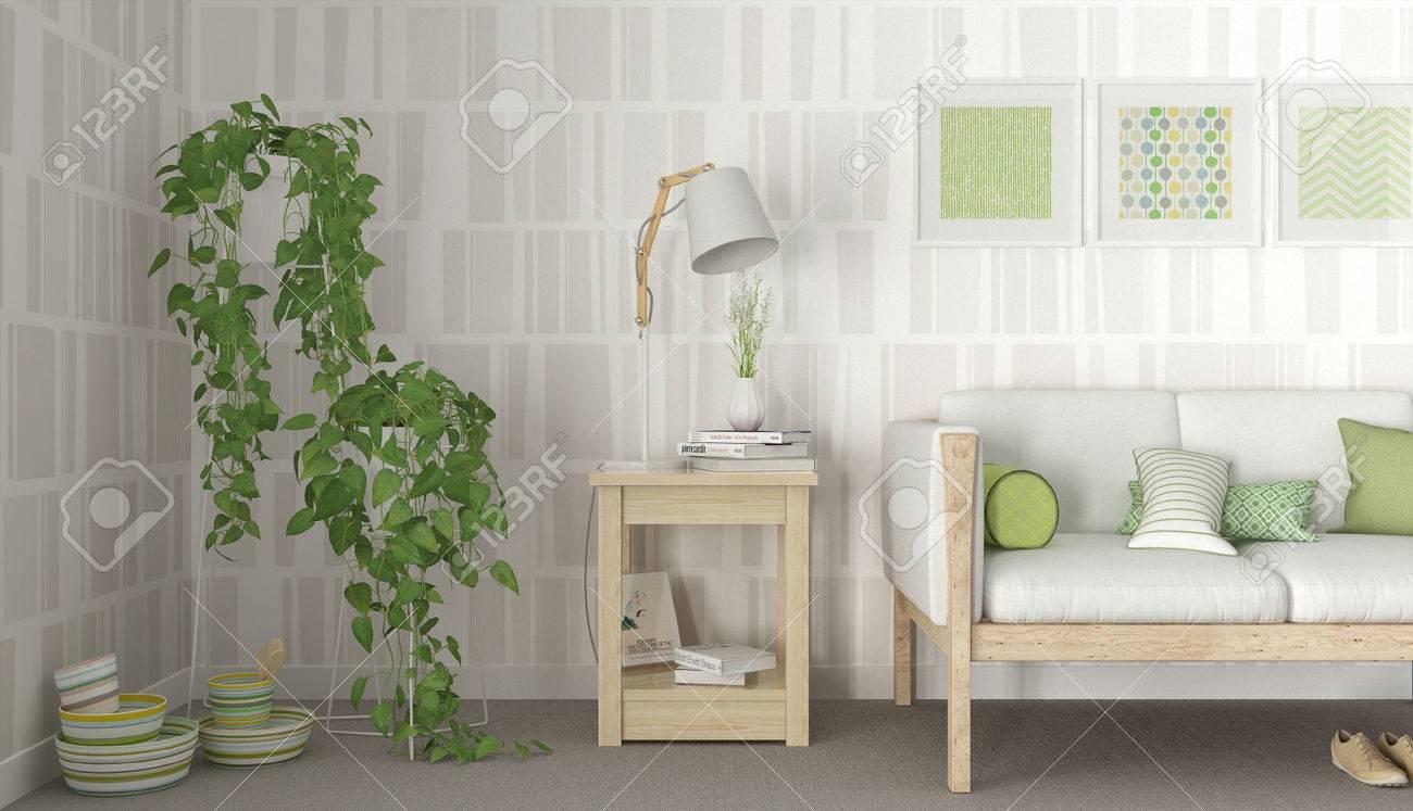 Lampen Scandinavisch Interieur : Grün weiß interieur skandinavisch lizenzfreie fotos bilder und
