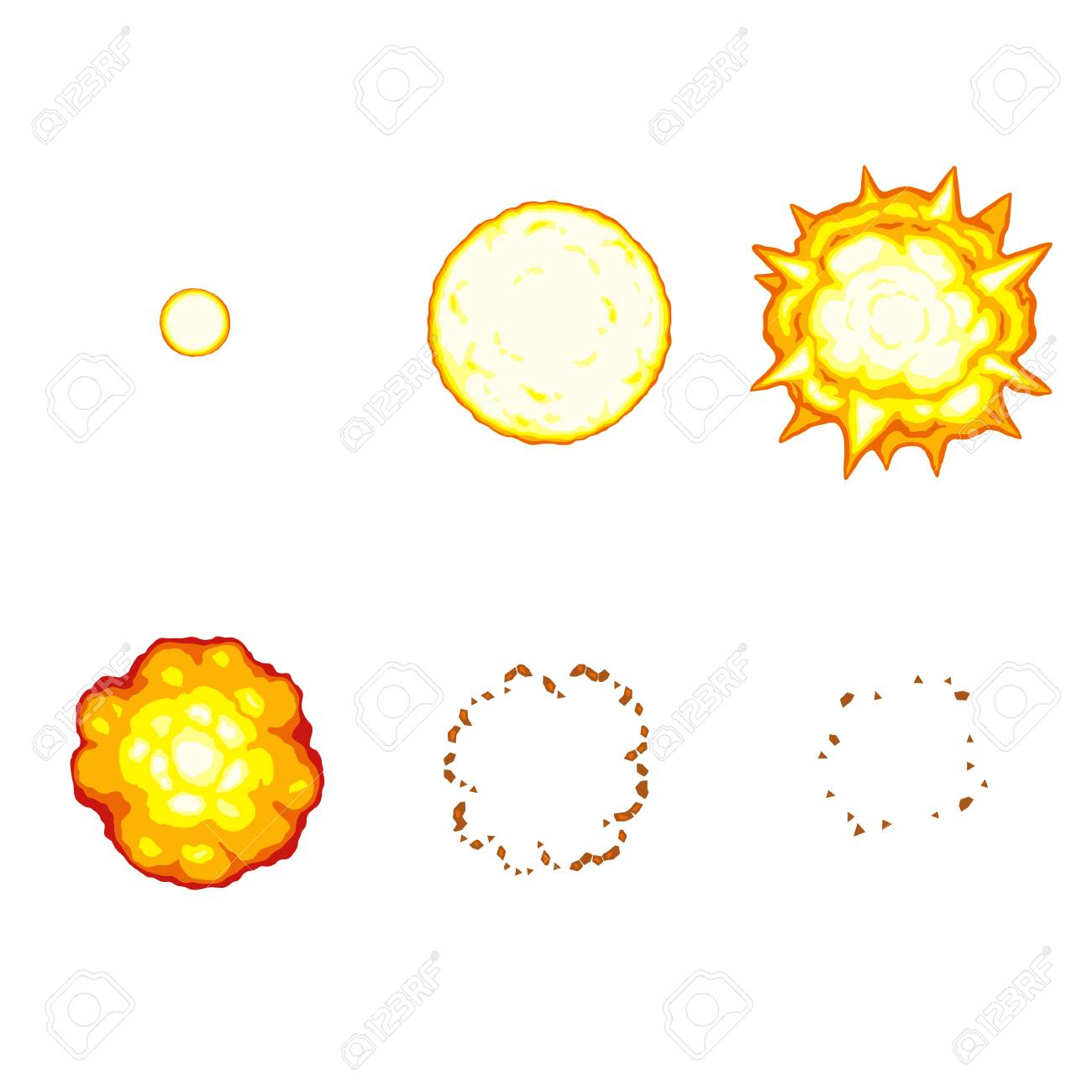 vector illustration of cartoon explosion sprite sheet isolated royalty free cliparts vectors and stock illustration image 108455873 vector illustration of cartoon explosion sprite sheet isolated