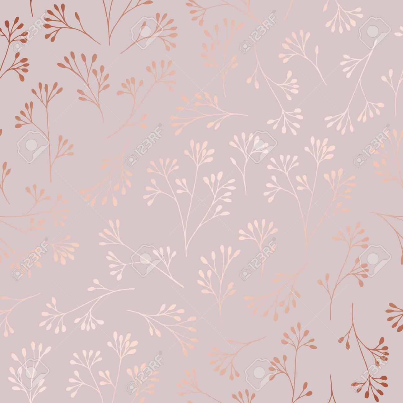 Rose Gold Elegant Decorative Floral Pattern For Printing Sales