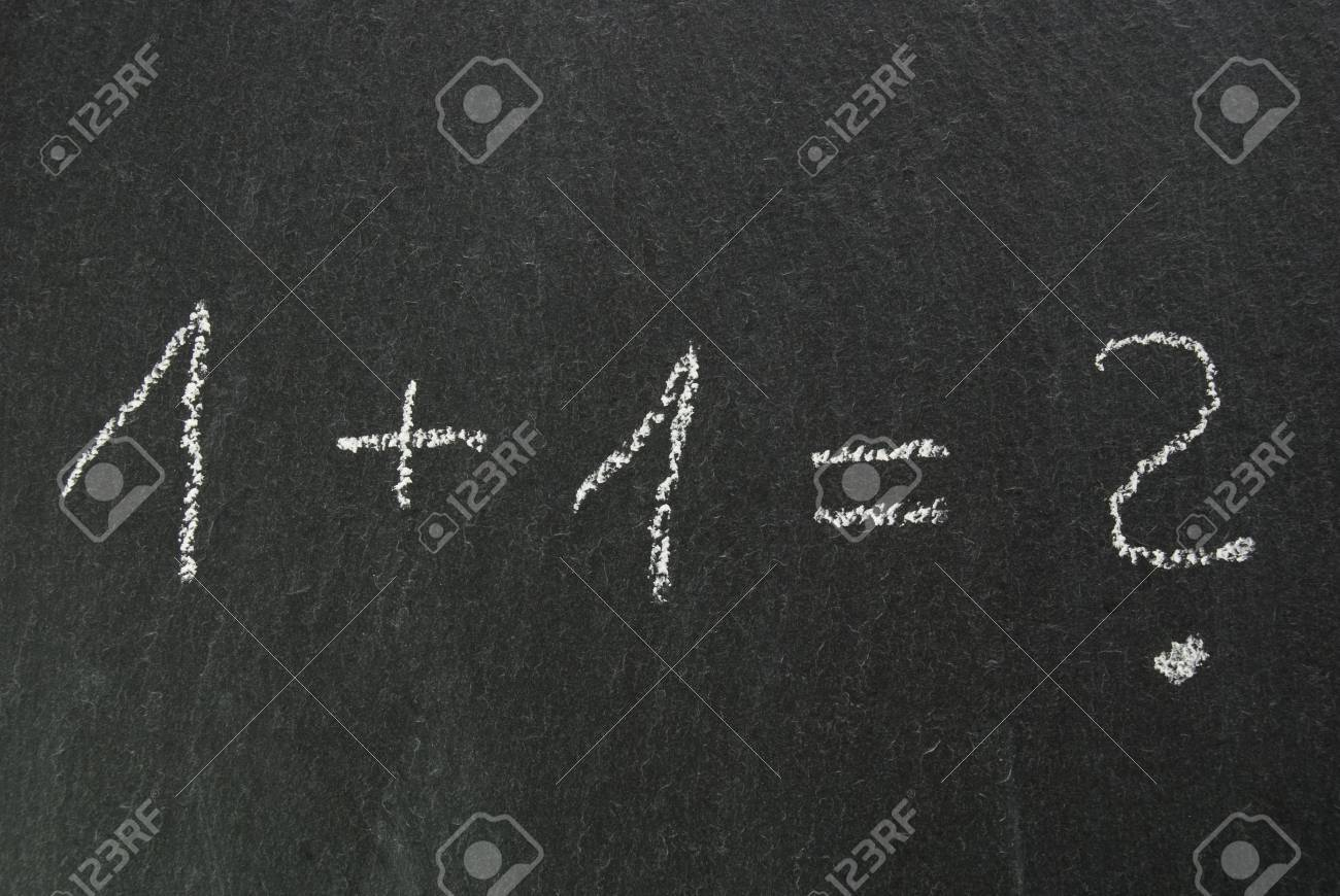 easy formula with questionmark on chalkboard Stock Photo - 16700053