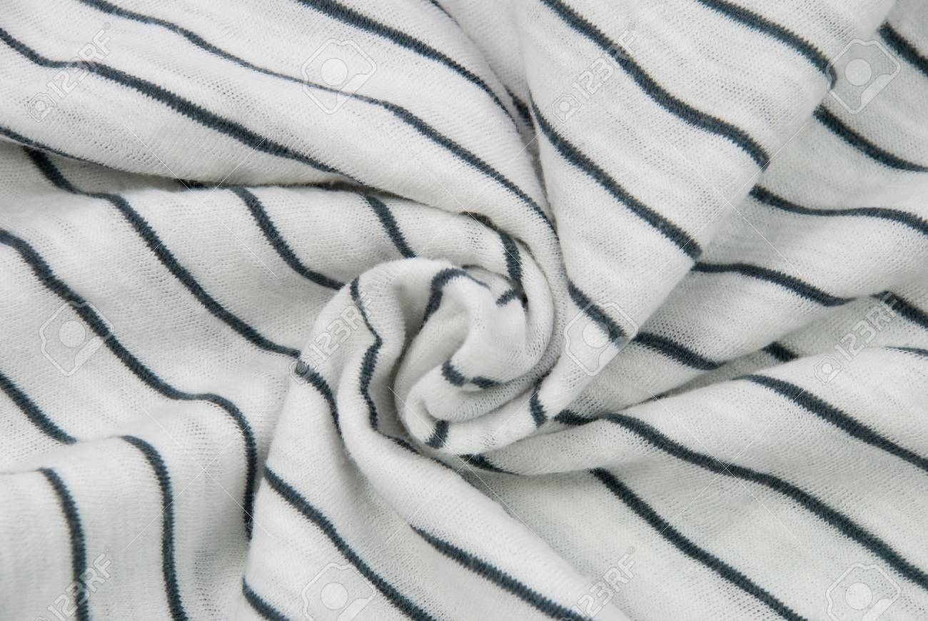 white cloth background with blue stripes, disarranged Stock Photo - 17513797