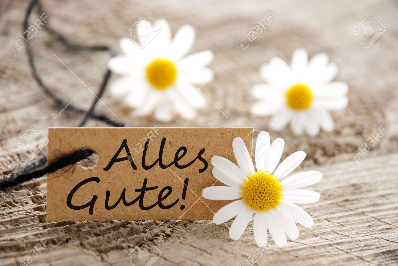 A Natural Looking Banner The German Words Alles Gutew Hich Meands – Words of Best Wishes