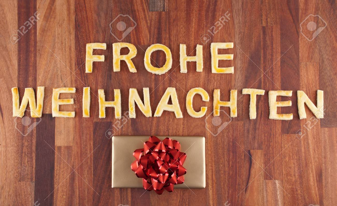 The German Word Frohe Weihnachten Which Means Merry Christmas ...