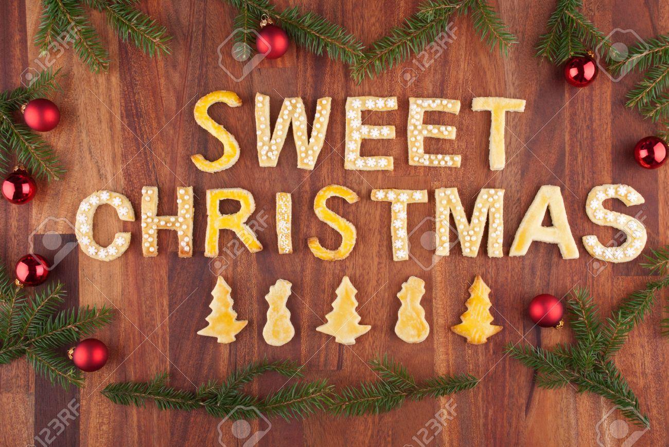Die Worte Süß Weihnachten Gemacht Mit Weihnachtsplätzchen Und ...