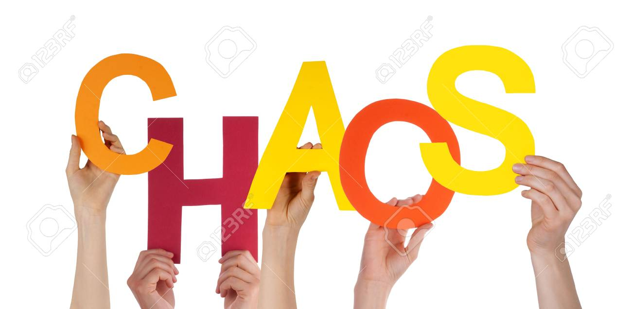 Many Hands Holding a Colorful Chaos, Isolated Stock Photo - 21917860