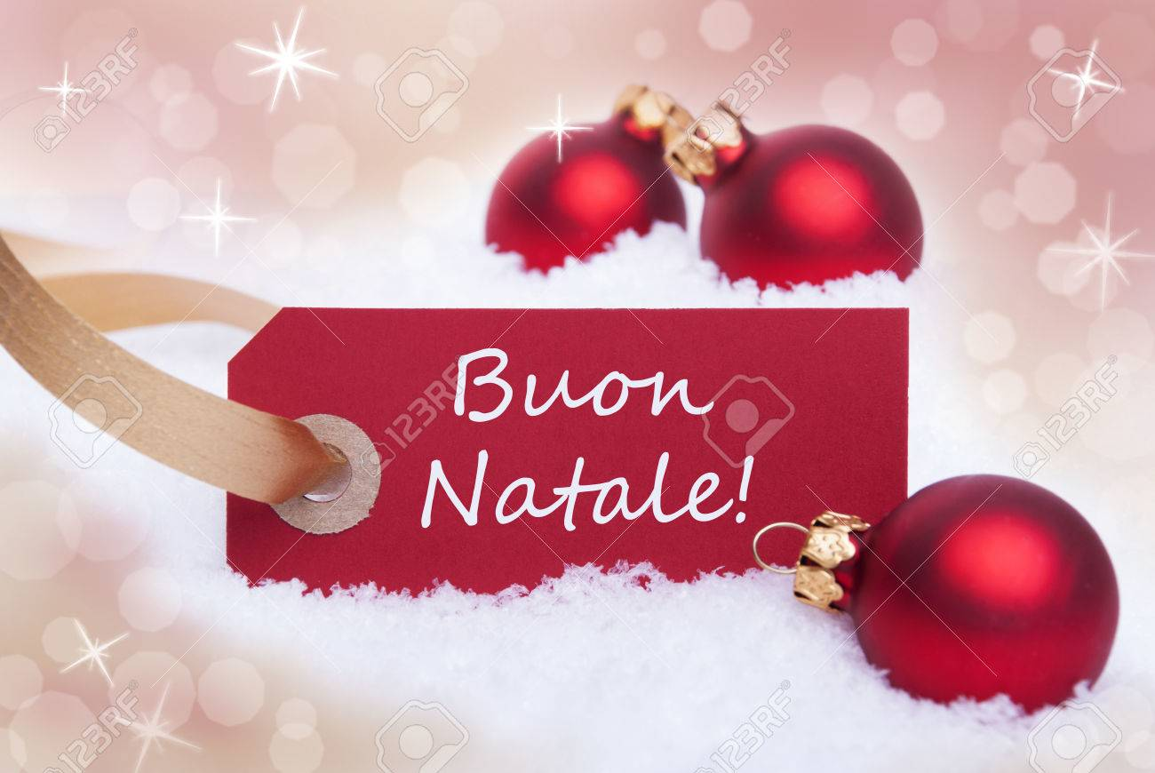 A red label with the italian words buon natale which means merry a red label with the italian words buon natale which means merry christmas stock photo m4hsunfo