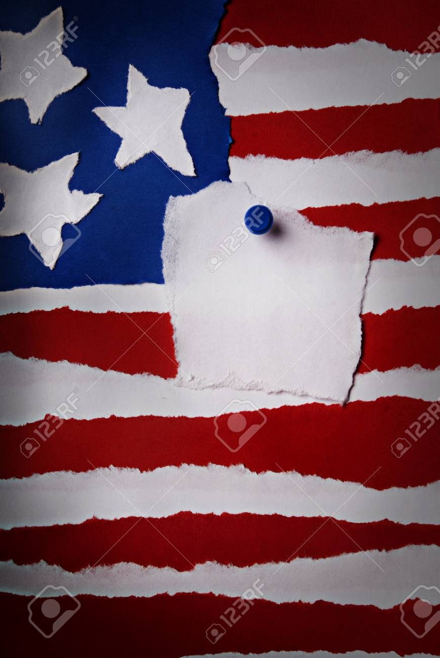 5420a150f50 Old american flag paper background with note with copy space on it stock  photo jpg 870x1300