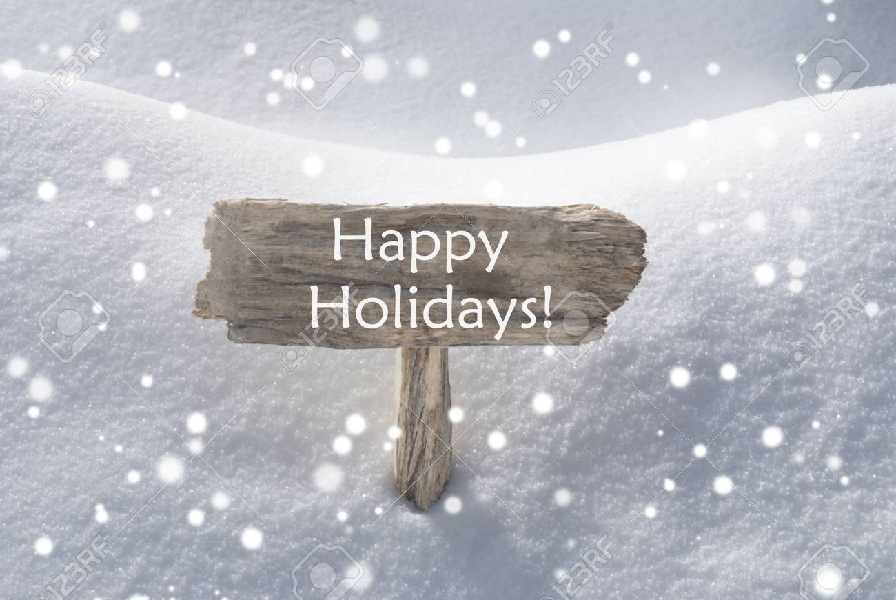 Wooden christmas sign with snow in snowy scenery english text wooden christmas sign with snow in snowy scenery english text happy holidays for seasons greetings kristyandbryce Choice Image