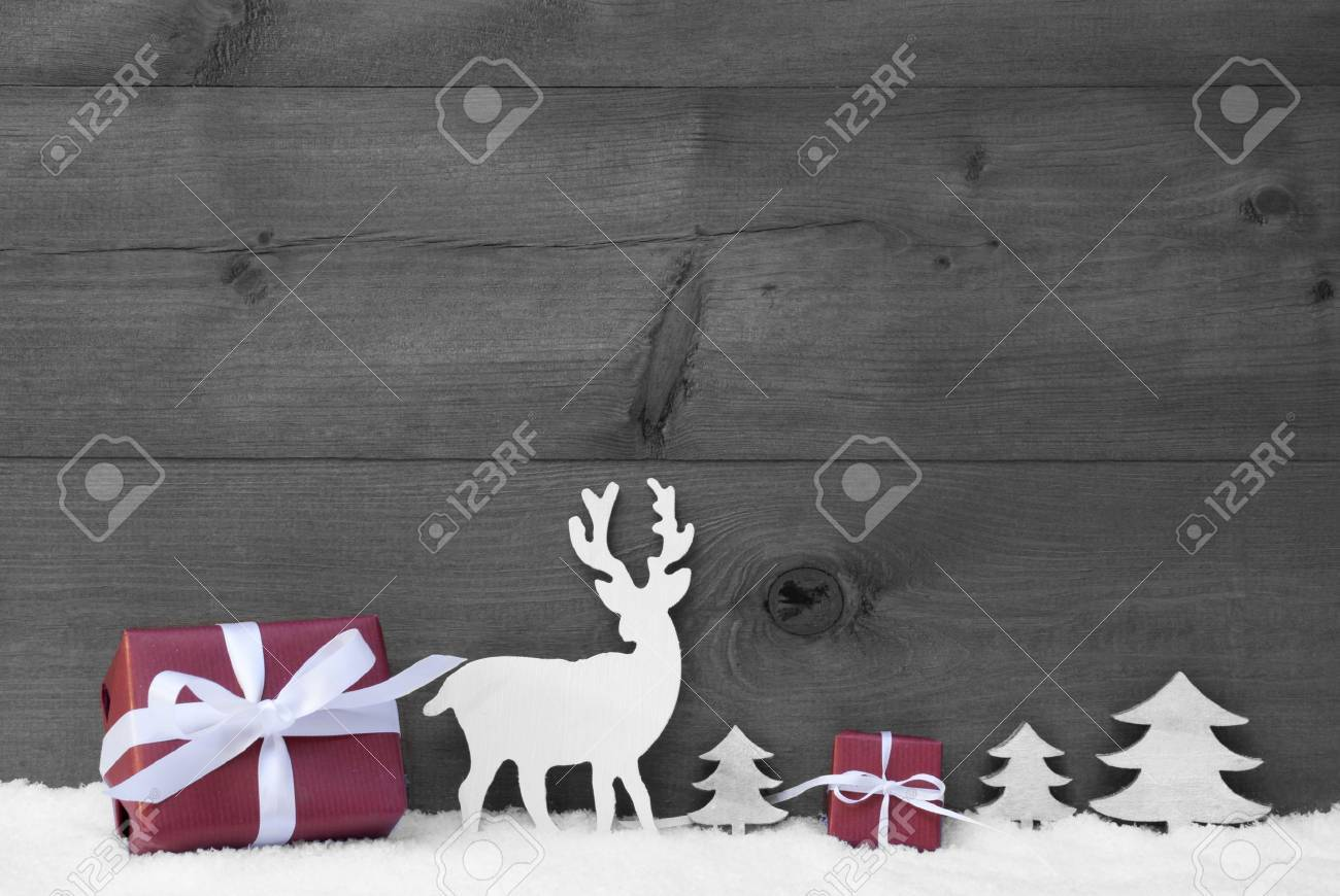 carte de noel noir et blanc pour un cadeau
