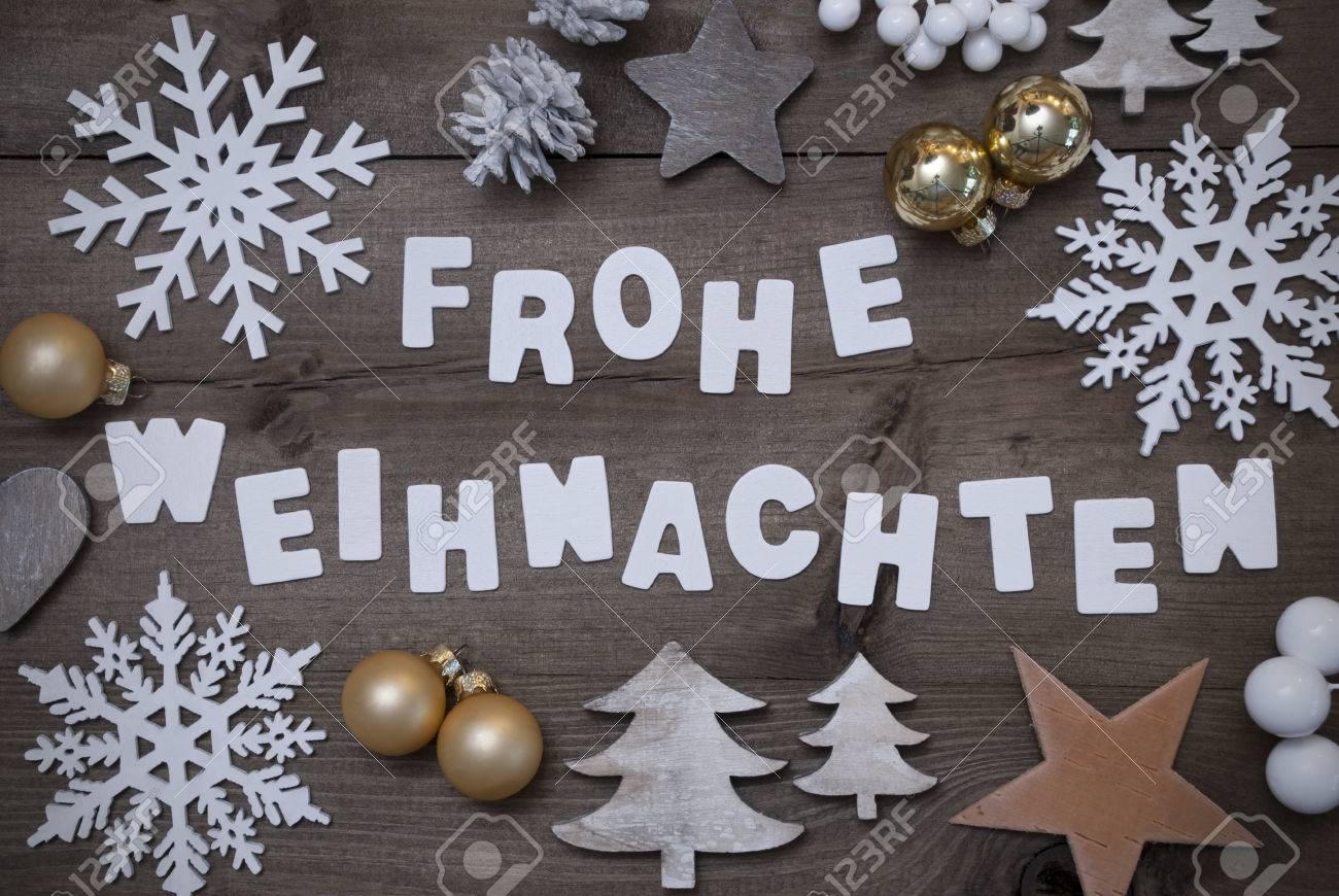 Weißer Schrift Mit Deutschen Frohe Weihnachten Frohe Weihnachten ...