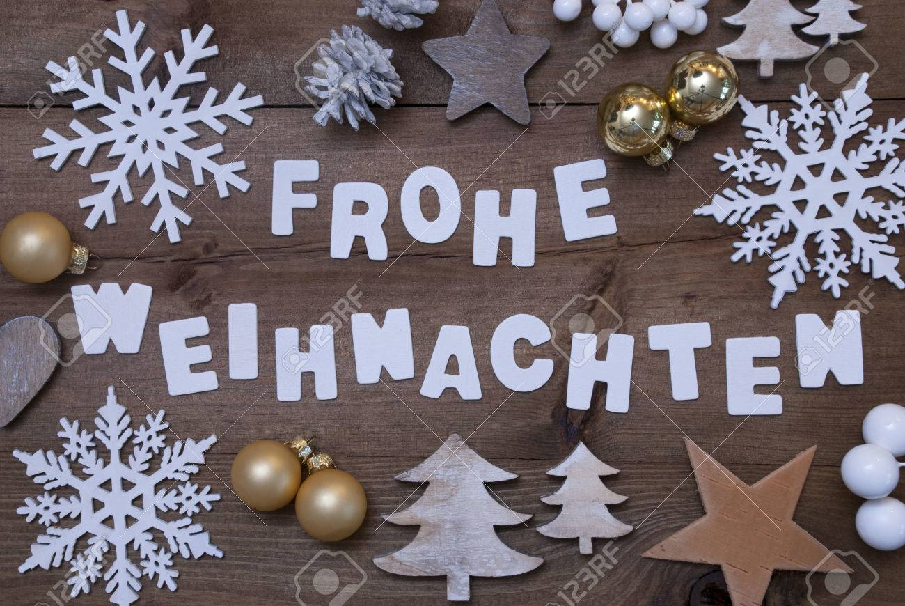 White Letters With German Frohe Weihnachten Means Merry Christmas