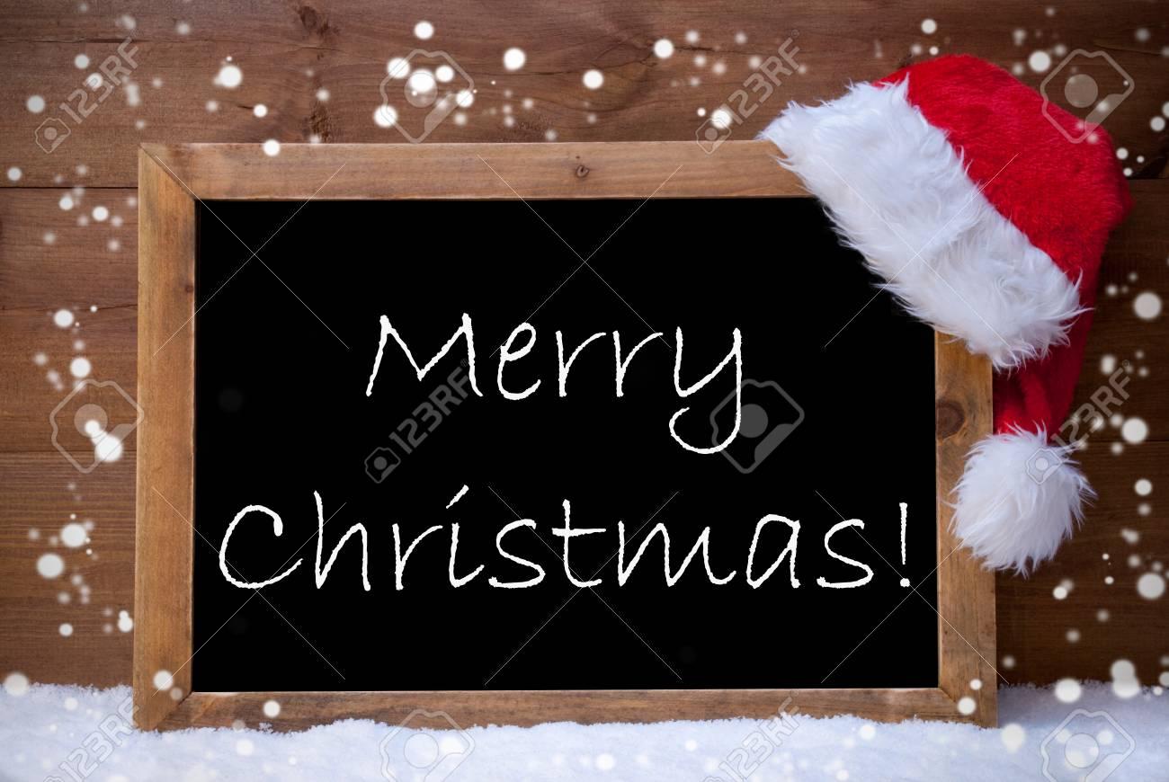 Frohe Weihnachten Englisch.Stock Photo