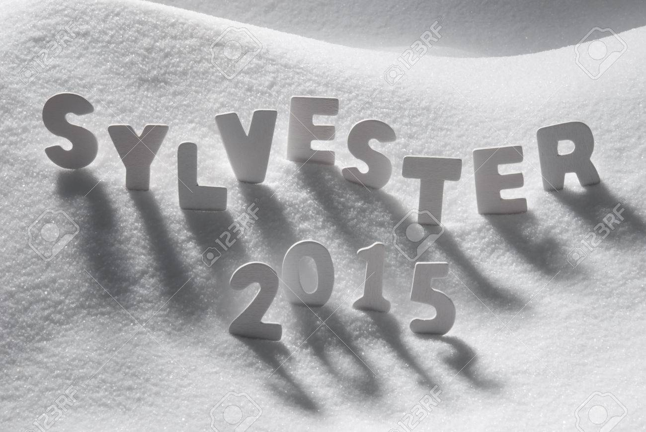 White letters building german text sylvester 2015 means new years white letters building german text sylvester 2015 means new years eve 2015 on white snow kristyandbryce Images