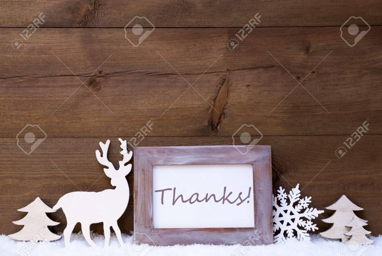 Weihnachtskarte Mit Shabby Chic Bilderrahmen Auf Weissem Schnee