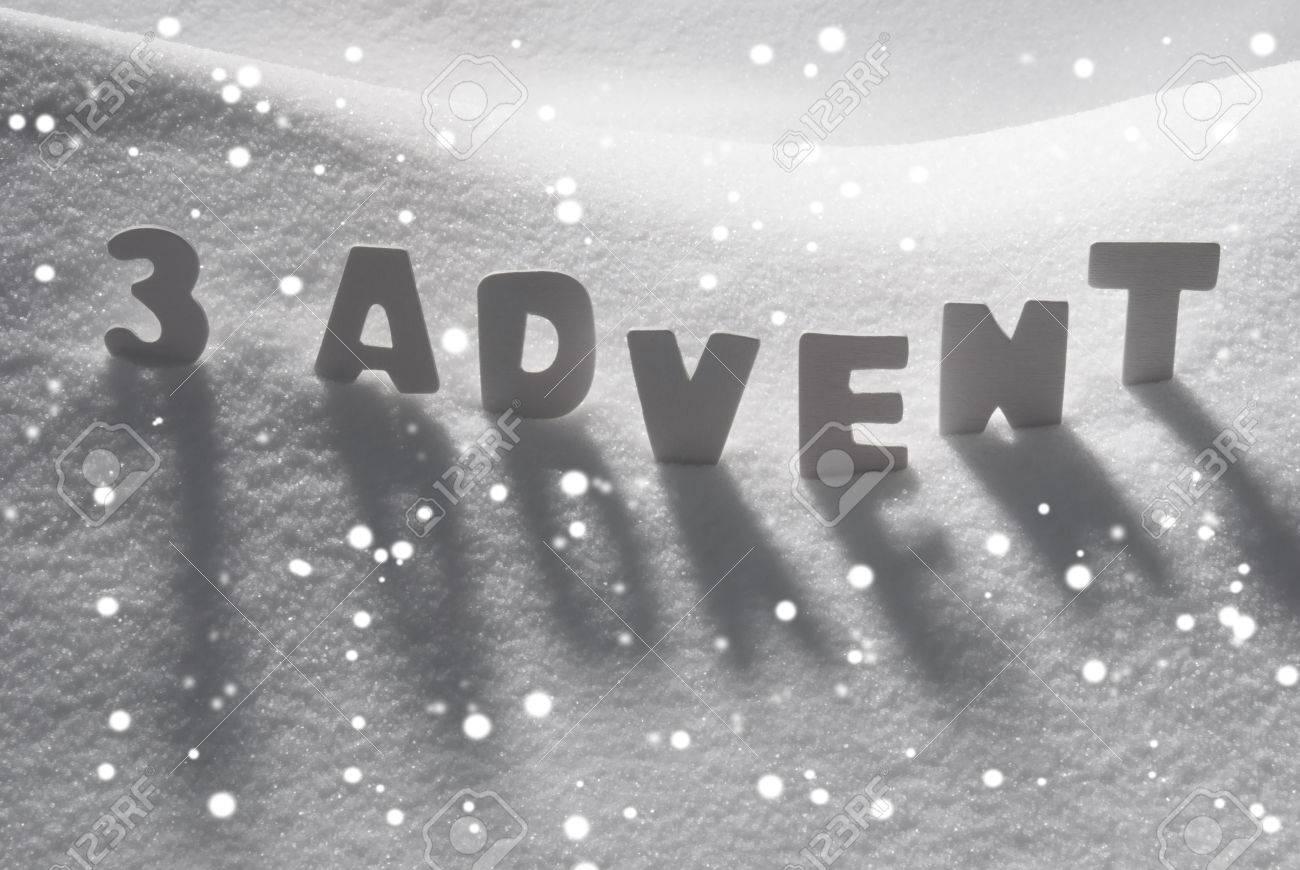 White letters building german text 3 advent means christmas time white letters building german text 3 advent means christmas time on white snow snowy landscape kristyandbryce Images