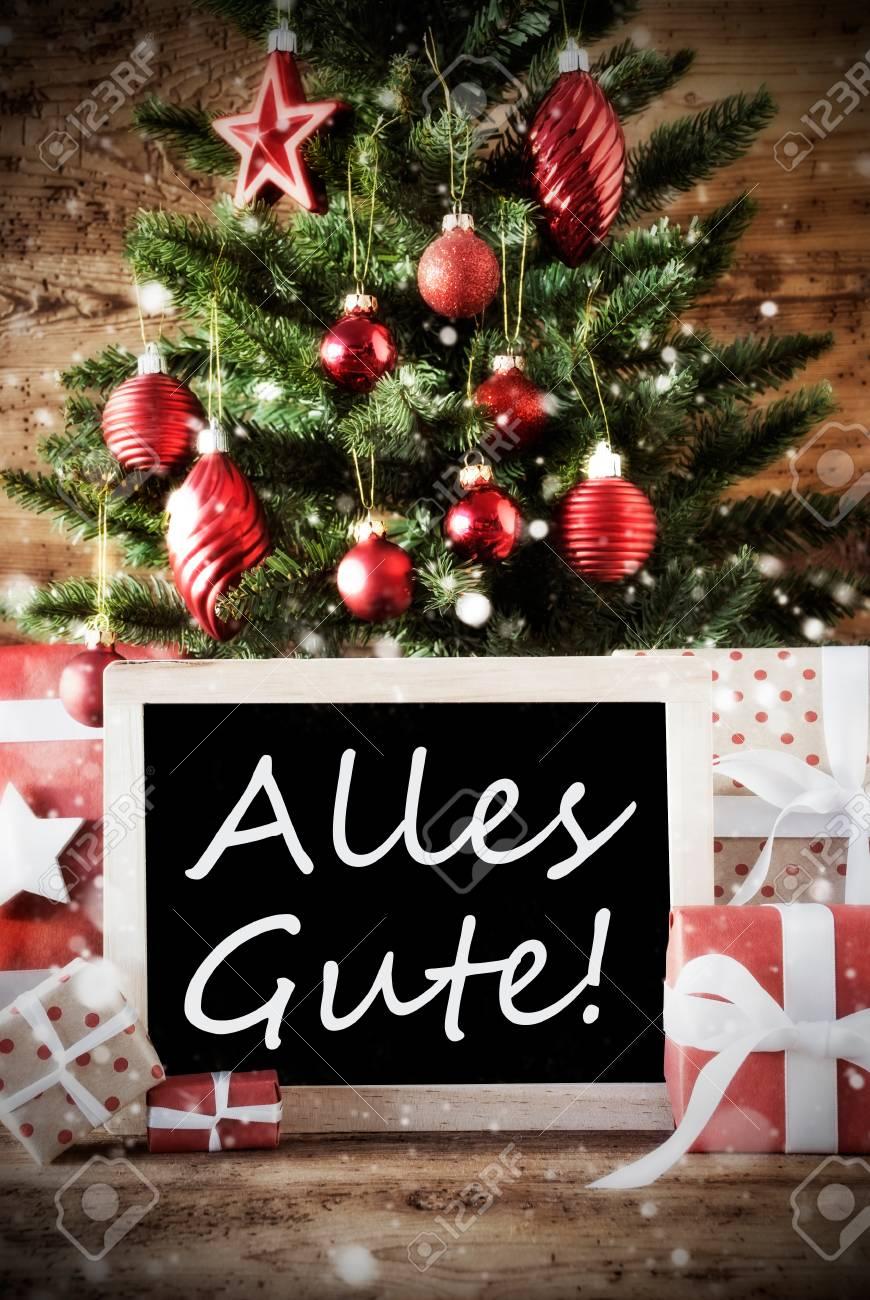 Weihnachtsbaum Der Guten Wünsche.Stock Photo