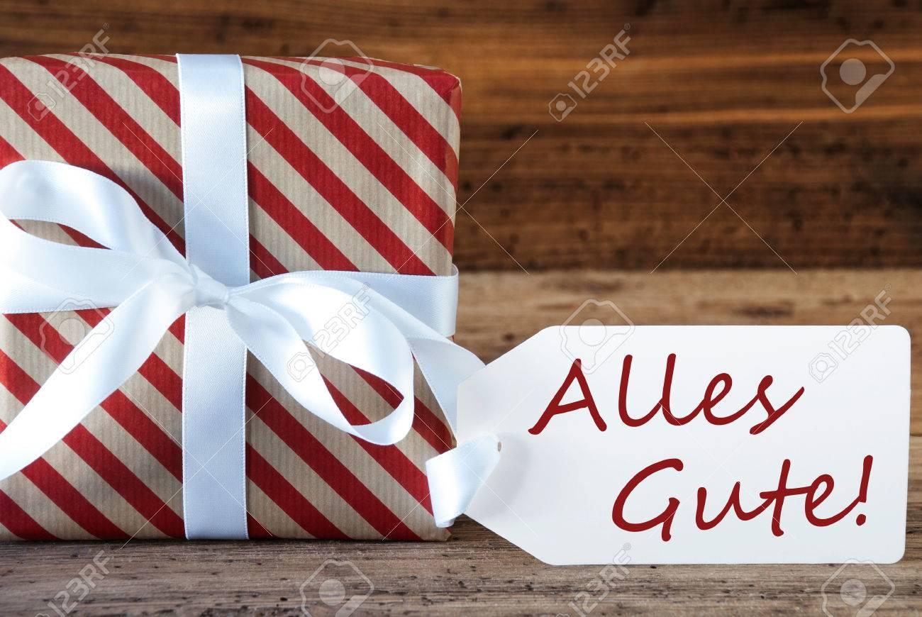 Makro Weihnachten Geschenk Oder Ein Geschenk Auf Holzuntergrund ...