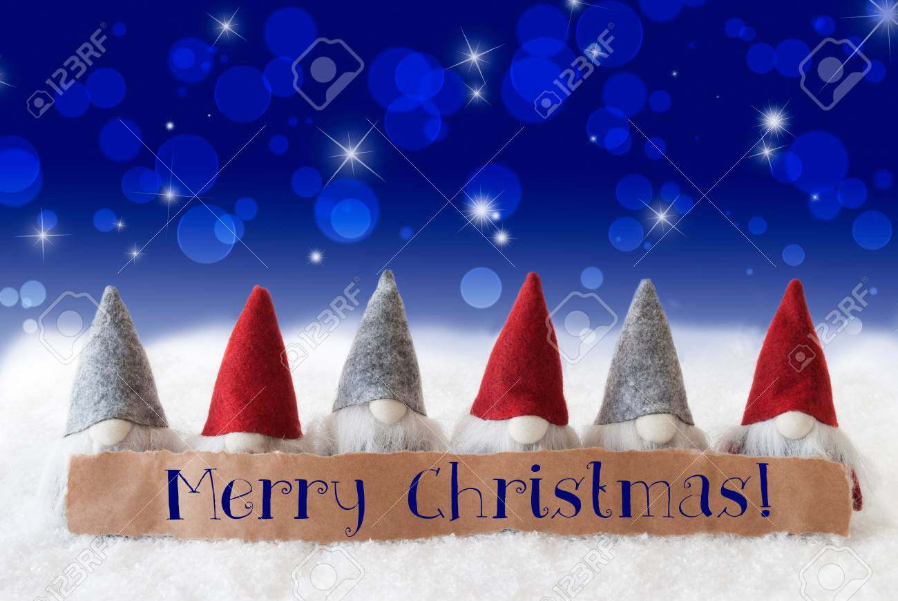 Label With English Text Merry Christmas Christmas Greeting Card