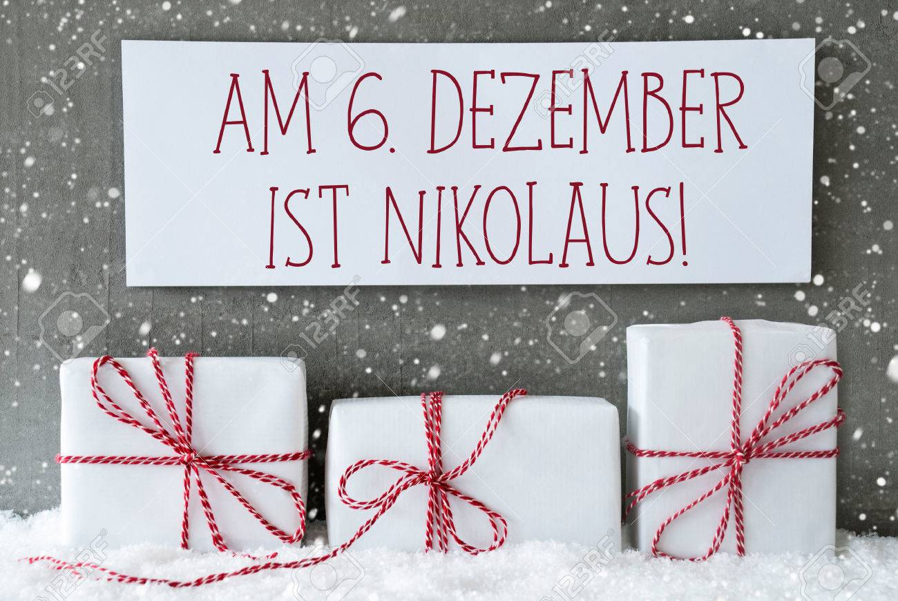 Label With German Text Am 6. Dezember Ist Nikolaus Means December ...