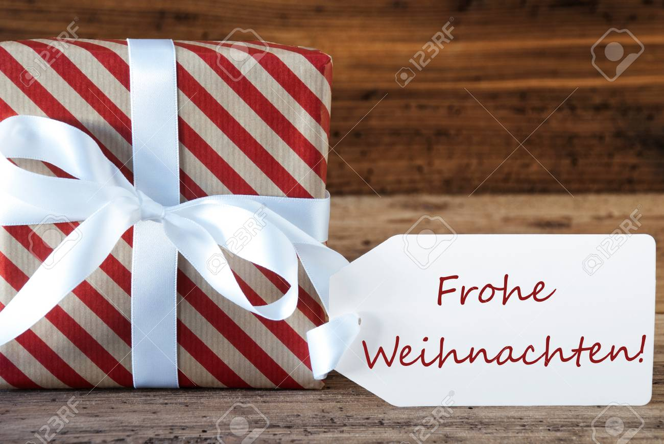 Macro Of Christmas Gift Or Present On Wooden Background Card Stock Photo Picture And Royalty Free Image Image 63255406