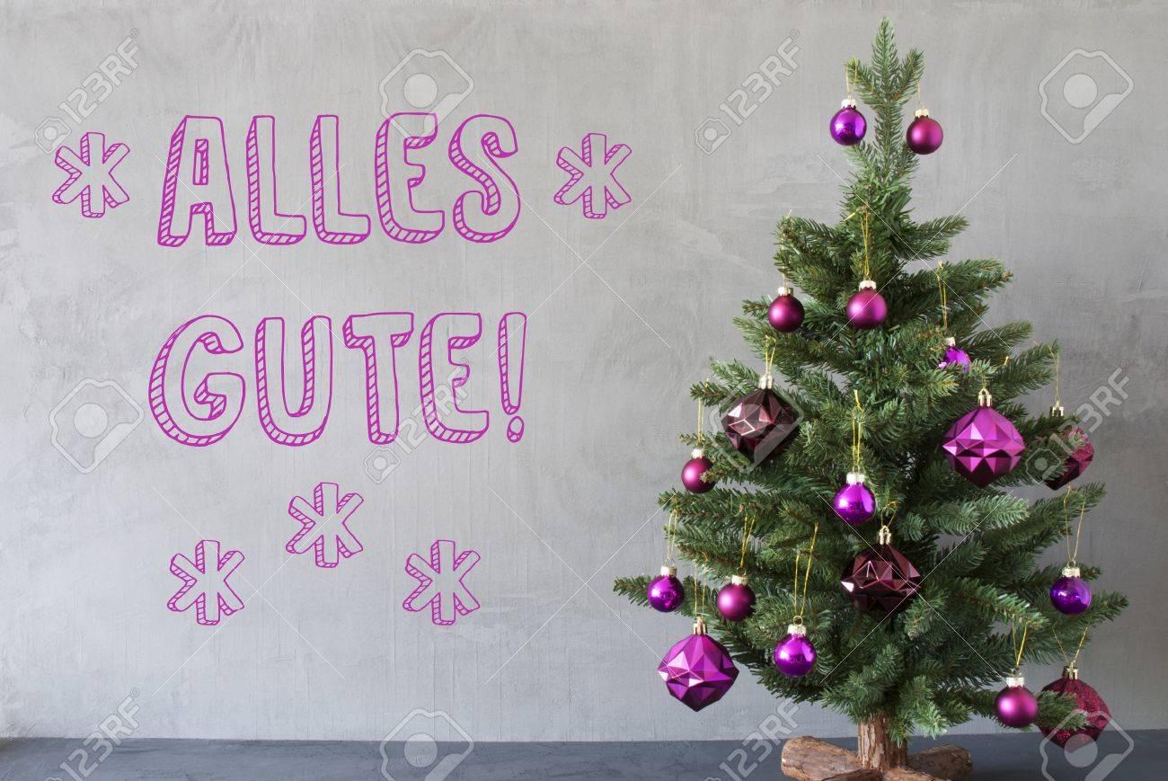 Christmas Tree With Purple Christmas Tree Balls Card For Seasons