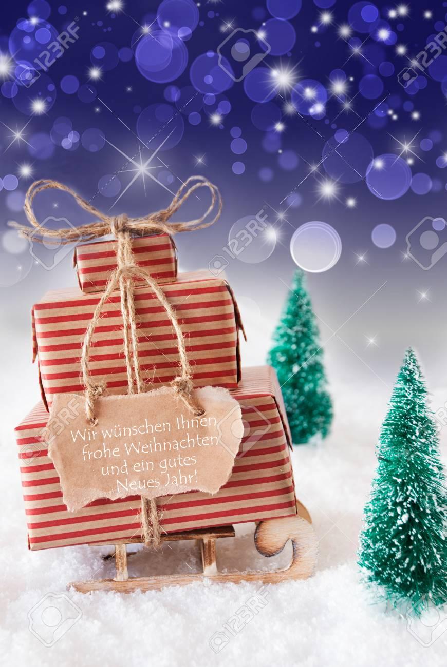 Label Mit Deutschem Text Wir Wünschen Ihnen Frohe Weihnachten Und ...