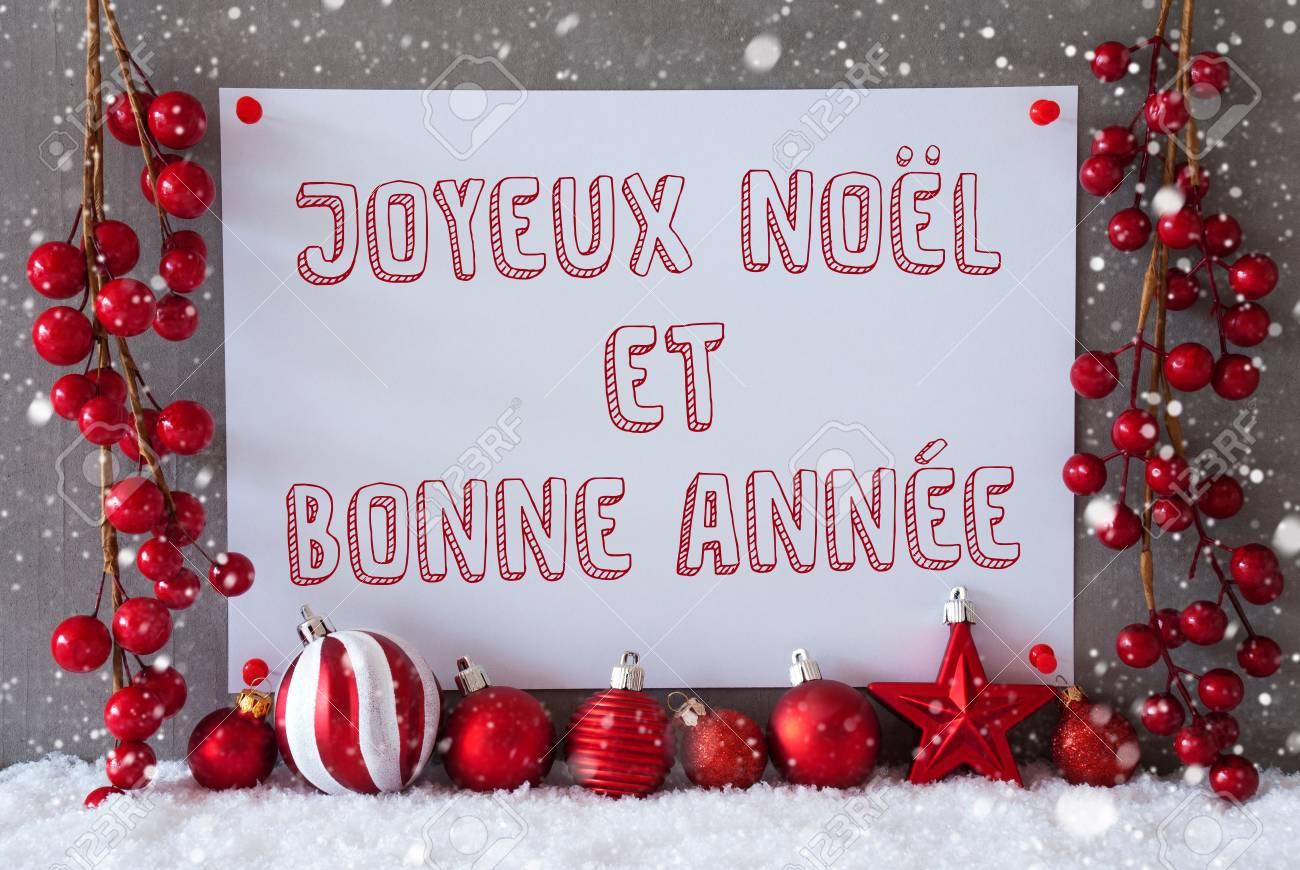 Bonne Annee Joyeux Noel.Label With French Text Joyeux Noel Means Et Bonne Annee Merry