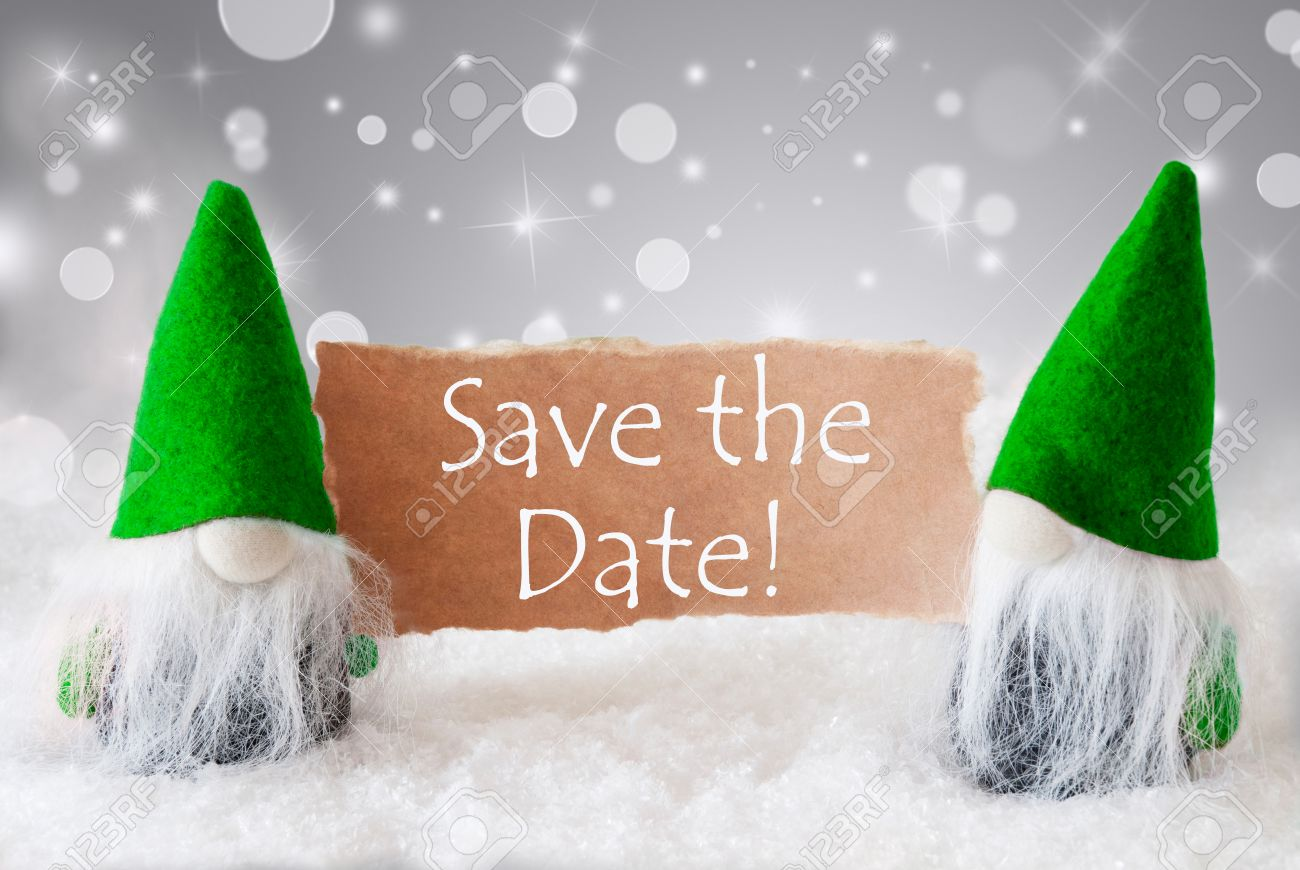 Christmas Save The Date Cards.English Text Save The Date Christmas Greeting Card With Two